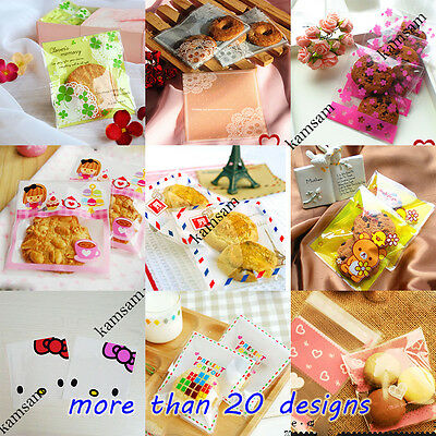 various lovely self adhesive cello cellophane bag cookie party gift favor treat