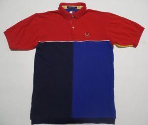 cdf2be18fc3980 vtg 90s Tommy Hilfiger Rugby Polo Shirt men s X LARGE color block