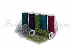 Tutu-Nylon-Tulle-Rolls-6-034-x-10-yards-ANIMAL-PRINT-soft-netting-craft-fabric