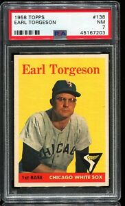 1958-Topps-Baseball-138-EARL-TORGESON-Chicago-White-Sox-PSA-7-NM