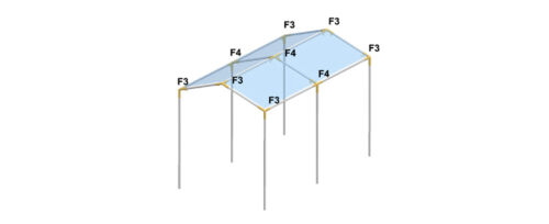 FB3 Canopy Fittings 3 way High Peak End fittings for 1 inch Pipe Lot of 6