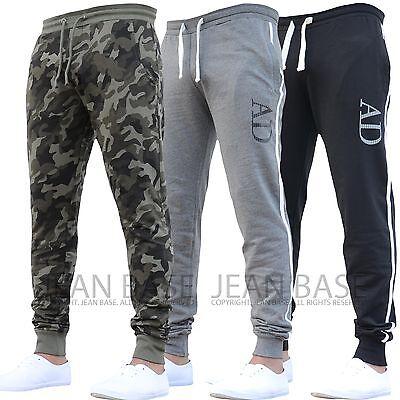 Mens Designer Branded Skinny Slim Fit Joggers Bottoms Track Pants Trousers Eton