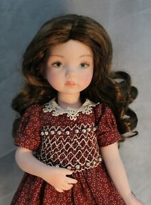 Doll Wig Brown Size 7//8 for Dianna Effner Little Darling Dolls and Other 13/""