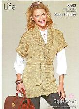 2e93d932a0561b Stylecraft Ladies Tunic Top Life Knitting Pattern 8451 Super Chunky ...