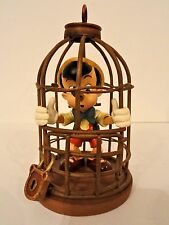 "PINOCCHIO "" I Will Never Lie Again Scene"" Figure In Metal Cage 4.5"" (Authentic)"