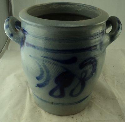 Antiquitäten & Kunst Alter Schmalztopf Salzglasur Auch Blumentopf Übertopf #3 AusgewäHltes Material Porzellan & Keramik