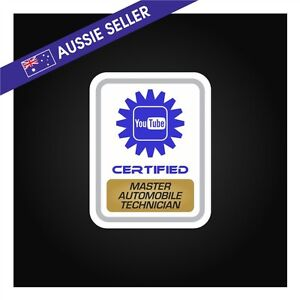 Youtube Certified Master Automobile Technician FUNNY PRANK Sticker ...