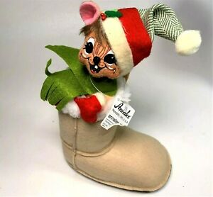Annalee-Alpine-Mouse-in-Snowboot-with-Santa-Hat-2013-Plush-with-Tags-9-034