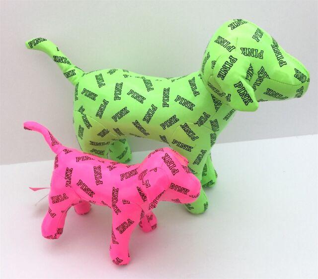 Set Of Dog Stuffed Animals, New Victoria S Secret Large Jumbo Green Plush Stuffed Dogs Pink Logo Toys Set For Sale Online