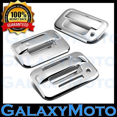 04-14 Ford F150 Overlay Chrome 2 Door Handle+keypad+no PSG KH+Tailgate Cover Kit