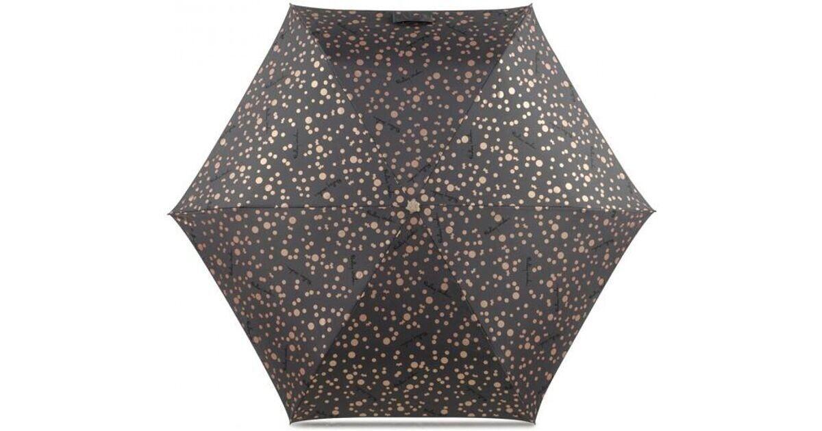 Radley Special Dot & Spot Telescopic Umbrella. Brown & Gold. BNWT RRP