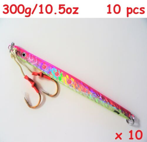 1-10 pcs 300g//10.5oz Pink Vertical Speed Butterfly Jigs Saltwater Fishing Lures