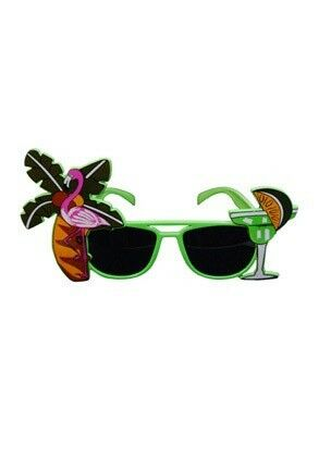 Unisex Tropical Flamingo Glasses Neon with Dark Lens for Adult