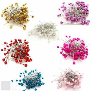 Pearl-Pins-4mm-Heads-1-5-Inch-Florist-Bouquet-Corsage-Dress-Making-Crafts