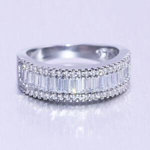 Fashion 925 Silver Jewelry White Sapphire Bague De Mariage Pour Femmes Taille 6-10