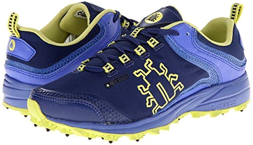 Icebug Womens 6 Aurora BUGrip Studded Traction Running Shoe Sneaker Ink/Amethyst