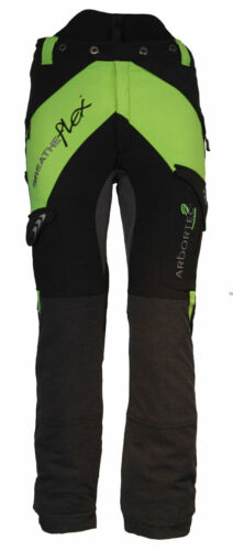 Arbortec Breatheflex Class 1 Chainsaw Trousers Design-A Black//Lime AT4010