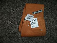 Brand New Miss Selfridge 'Superskinny' Brown  Jeans Size 8 - RRP £38 FREE UK PP