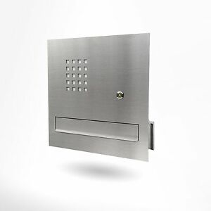briefkastenanlage mauerdurchwurf briefkasten m klingel. Black Bedroom Furniture Sets. Home Design Ideas