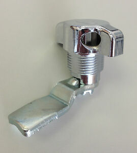 Padlockable Wing Knob Lock (Chrome). 18.5 mm shaft. FREE SHIPPING