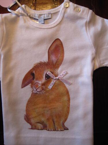 Baby Shirt Hase Louis /& Louisa weiß 68 74