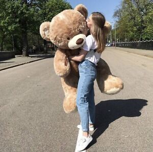 Pluesch-Teddybaer-160-CM-BIG-XXL-Riesen-baer-Kuscheltier-Stofftier-Geschenke-idee