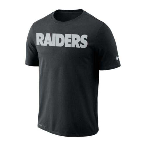 Nike NFL Oakland Raiders Essential Wordmark Performance T-Shirt