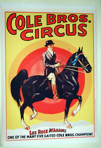 XL-HiQ-Facsmile-of-1941-Cole-Brothers-Circus-Poster-Equestrian-36-x-25-034-Mcadams