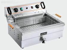 Ce High Quality Commercial Electric Deep Fryer Single Tank 20l With Timer 220v