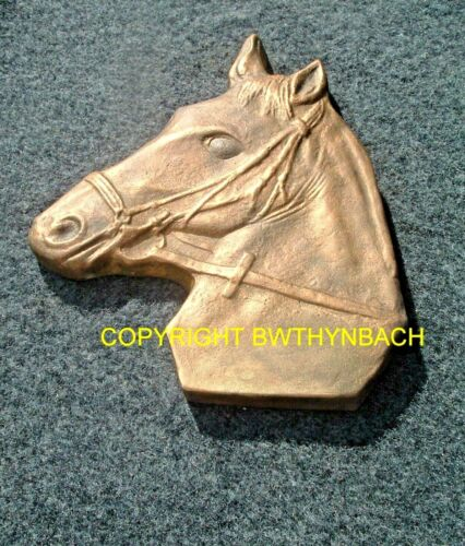 NEW RUBBER LATEX MOULDS MOULD MOLD TO MAKE CEMENT HORSE HEAD WALL PLAQUE