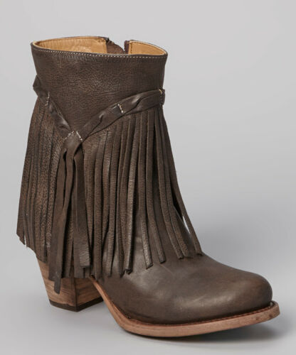 MATISSE SHOES RUMOUR FRINGE LEATHER BOOT DARK BROW