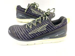 Altra-Torin-Knit-3-5-Zero-Drop-Running-Shoes-Gray-Neon-AFM1837K-2-Men-039-s-12-EUC