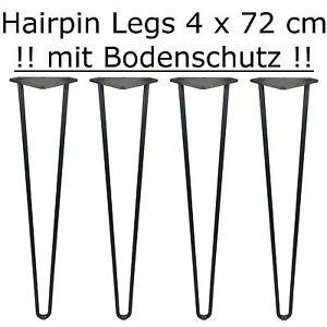 4 X 72 Cm Hairpin Legs Mit Bodenschutz Tischbeine Tischkufen Esstisch Diy Ebay