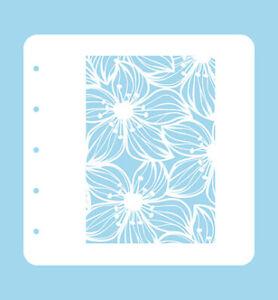 Mixed media stencil Flex-Schablone Blume Flower 2 Nellie Snellen COLST002