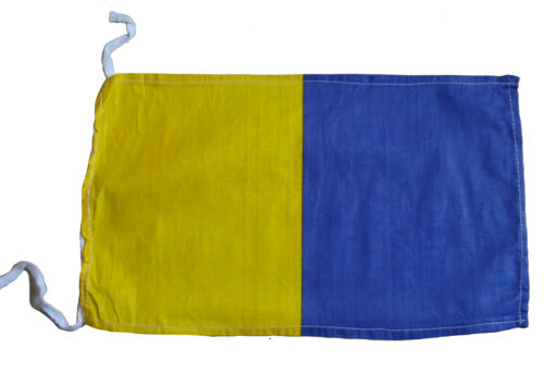 "8/"" X 13/"" Naval Signal Flag K Nautical // Boat 100/% Cotton – Marine Code"