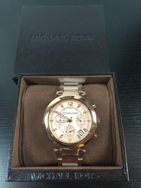 a638d3964c66 Michael Kors Parker Rose Gold Dial Ladies Chronograph Watch Item No. MK5277