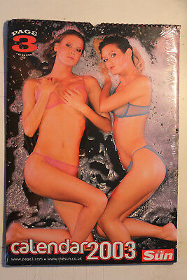 The Sun Page 3 Girls Calendar 2003 - (NEVER OPENED!) - ONLY 1 AVAILABLE!