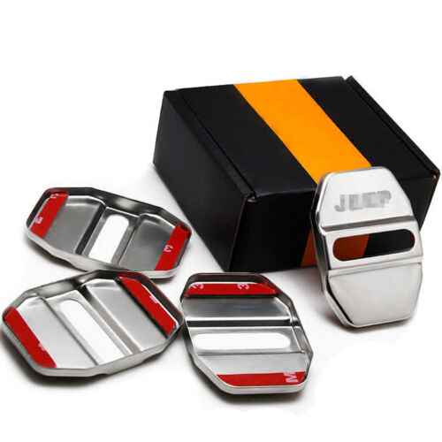 1set Stainless Steel Door Lock Buckle Protective Cover For Jeep Grand Cherokee
