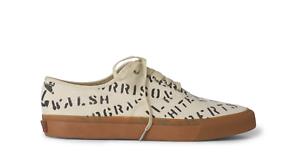 Ralph Lauren RRL Mens Norfolk Canvas Graffiti Stencil Sneakers Sneaker shoes NIB