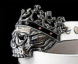 Gürtelschnalle Frosch Frösche Herz Krone Wechselschnalle Buckle silber NEU 4 cm