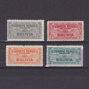 BOLIVIA-1932-Sc-C36-C39-part-set-air-mail-MH-Used