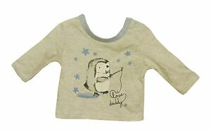 NEW-TU-Baby-Boys-Blue-Grey-I-Love-Daddy-Xmas-Penguin-Long-Sleeve-Top-Age-1-Month