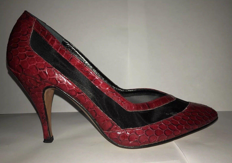 con il 60% di sconto Portofino High Heels Heels Heels Vintage scarpe 7   colored Dark rosso With nero  autorizzazione