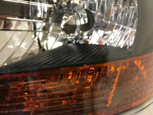 For 2007-2012 TOYOTA YARIS Sedan Headlights Lamps Black Housing Left+Right Set