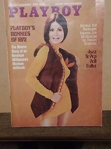 Vintage October 1972  Issue of Playboy - w/ the Bunnies of 1972! - VG Condition!