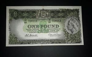 Commonwealth-of-Australia-1961-One-Pound-Coombs-Wilson-Emerald-Green-R-34b-EF