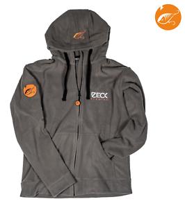 "Zeck Fishing /""Predator/""orangenes Logo Fleece Jacke Jacket mit Kapuze Größe S-2XL"