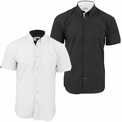 Mens Short Sleeved Shirt by Xact Clothing Mini Polka Dot