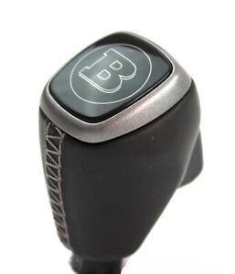 Smart-ForTwo-453-W453-Hebel-Schaltknauf-Knauf-Leder-Brabus-silber