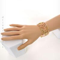 Daisy Fuentes Gold Tone & Rose Gold Tone Open Design Bracelet